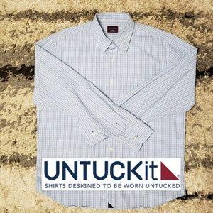 UNTUCKit  casual / dress button up shirt.